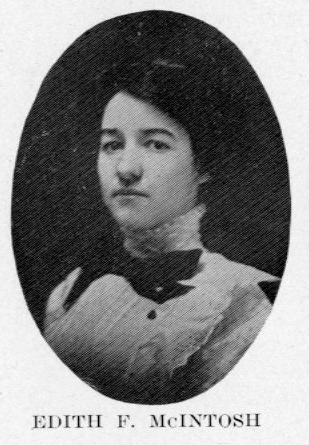 Edith McIntosh Yearbook Photograph