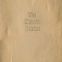 "Scrapbook Title Page ""The Music Center"""